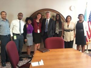 Urban Scholars with the Mayor