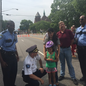 Commissioners and MPD Officers participated in the Franklin Avenue Open Streets event.