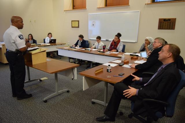 DC  Arradondo presents to Commissioners.